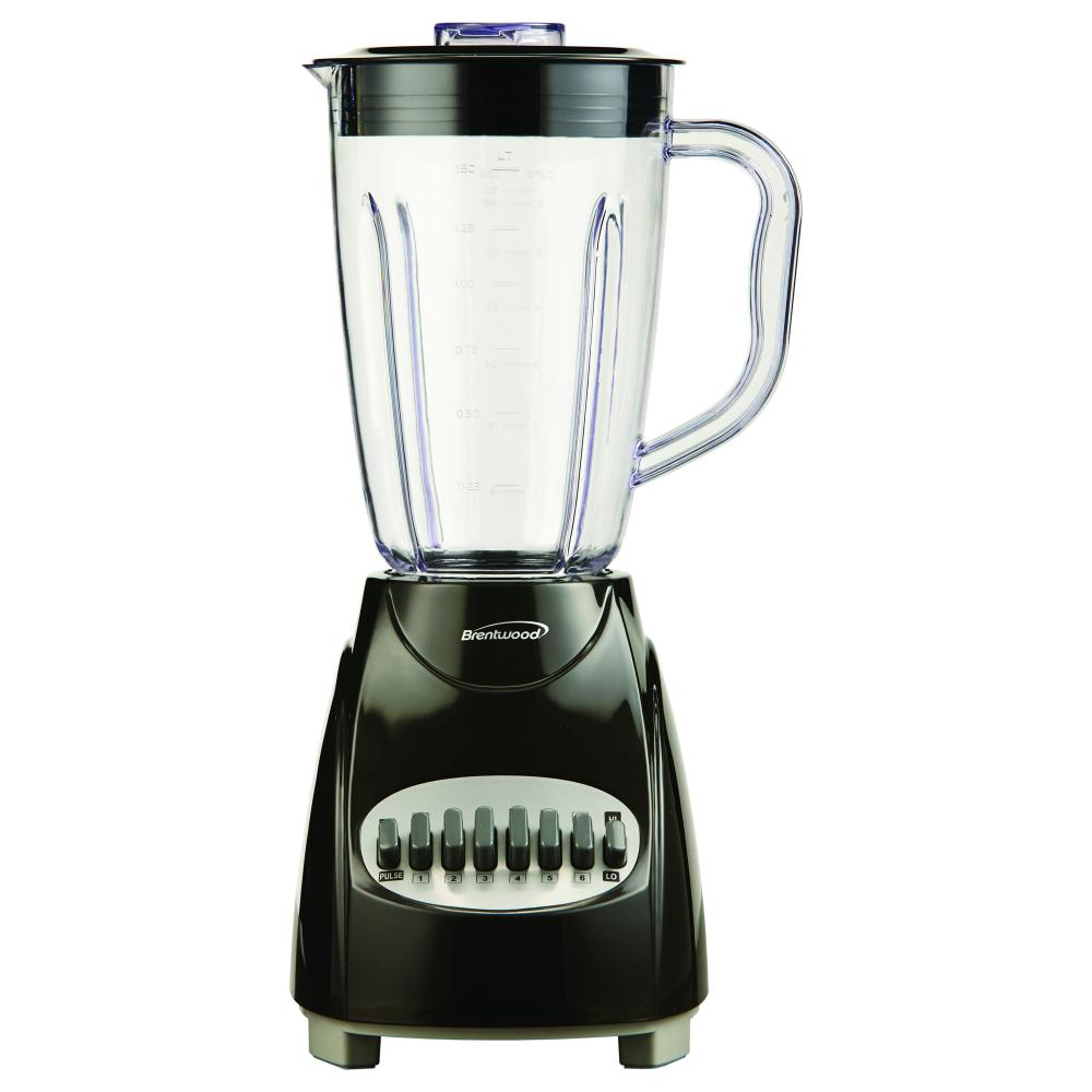 Brentwood 12 Speed Blender Plastic Jar - Black