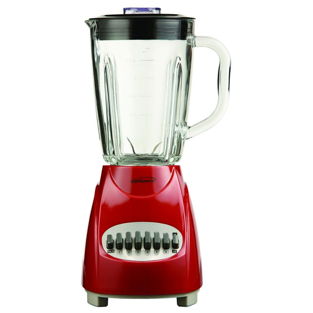 Brentwood 12 Speed Blender Glass Jar - Red