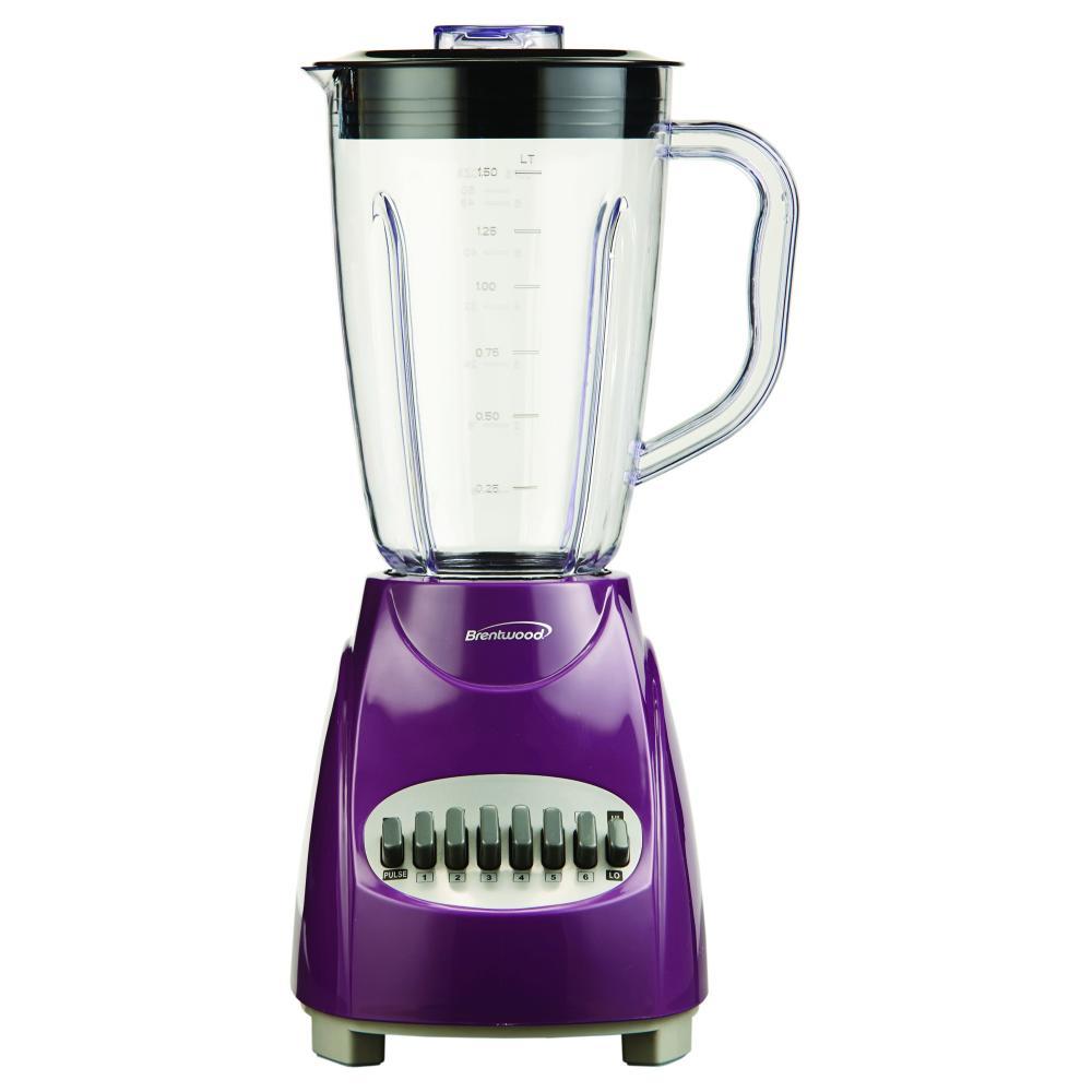 Brentwood 12 Speed Blender Plastic Jar - Purple