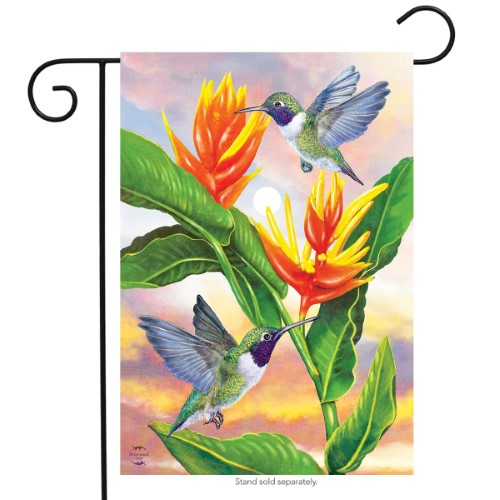 Black Chinned Hummingbird Garden Flag