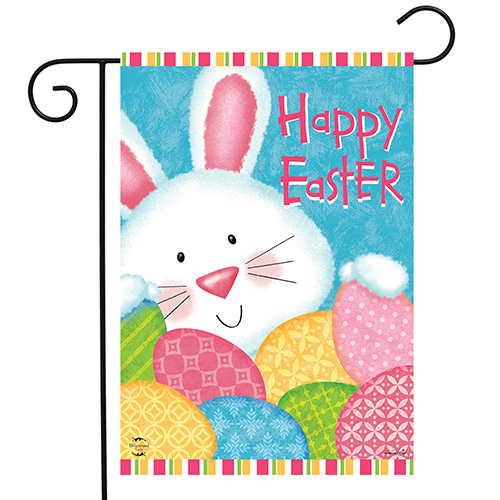 Bunny and Eggs Garden Flag