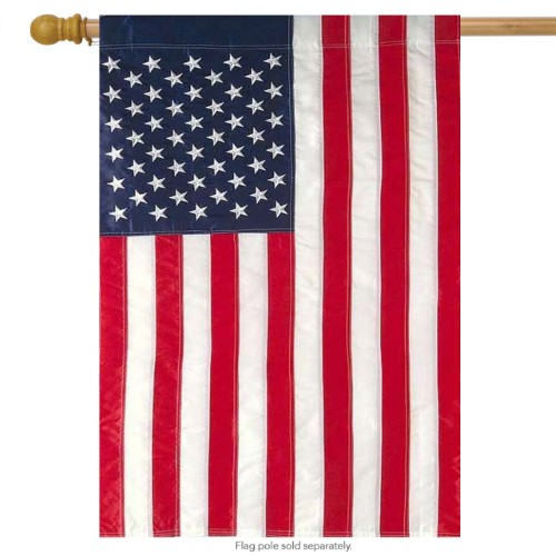 Embroidered American Flag House Flag