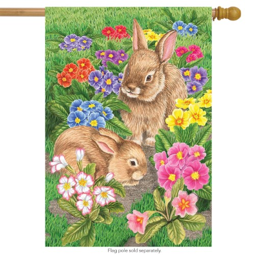 Bunny Friends House Flag