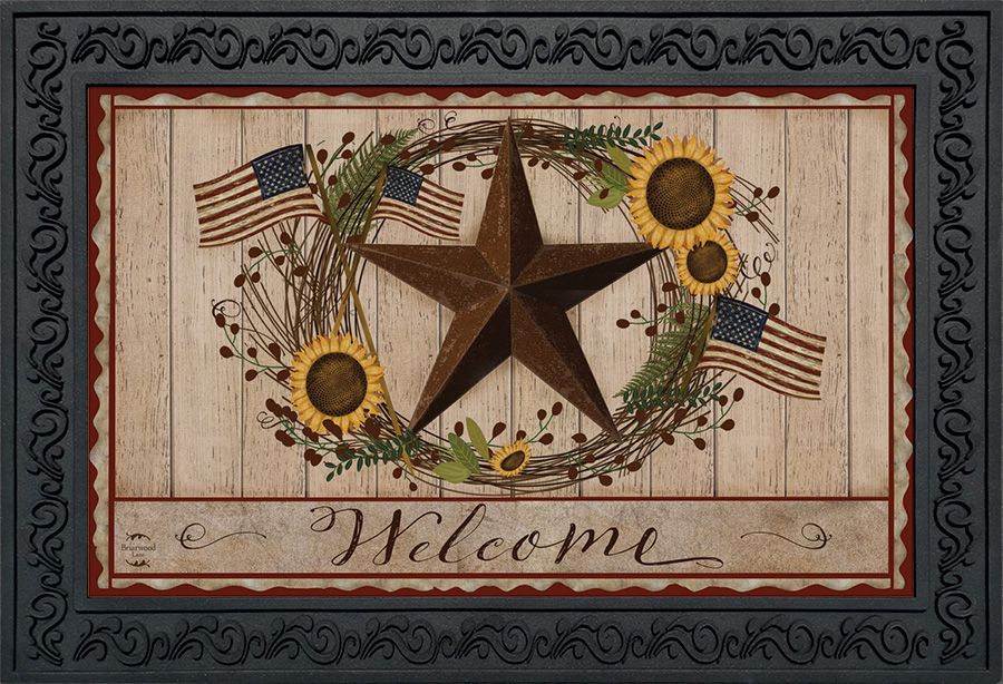 Autumn Welcome Barnstar Doormat