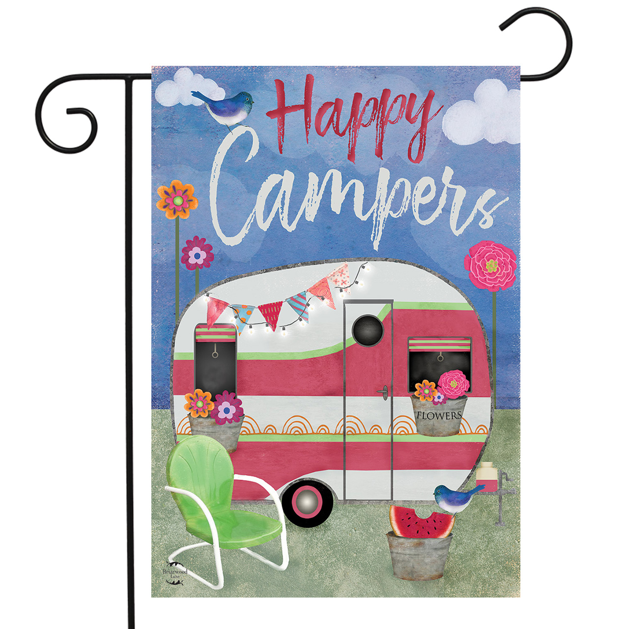 Camping Weather Garden Flag