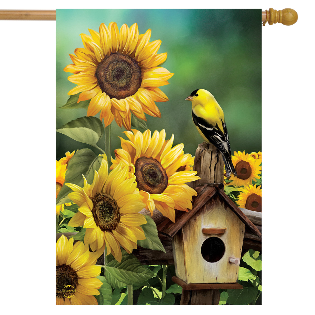 Goldfinch & Sunflowers House Flag