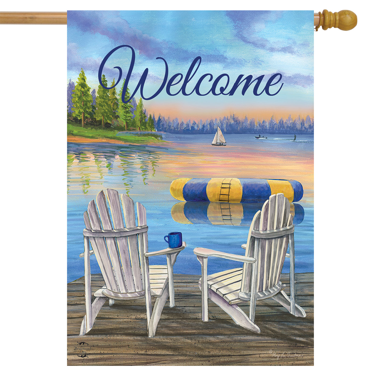 Waterfront Retreat House Flag
