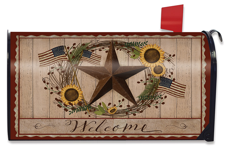 Autumn Welcome Barnstar Mailbox Cover