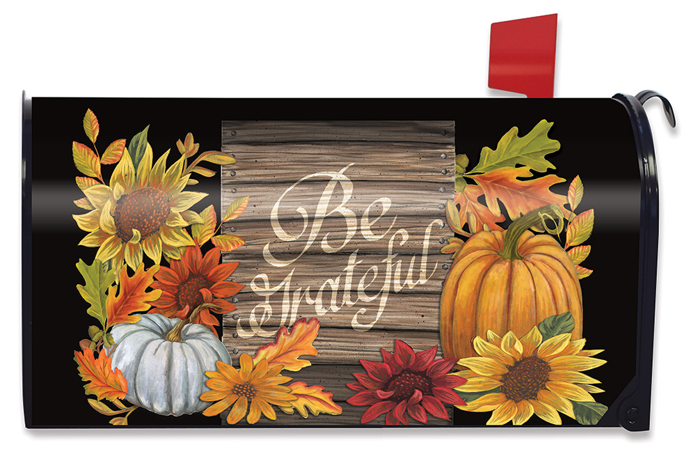 Be Grateful Mailbox Cover