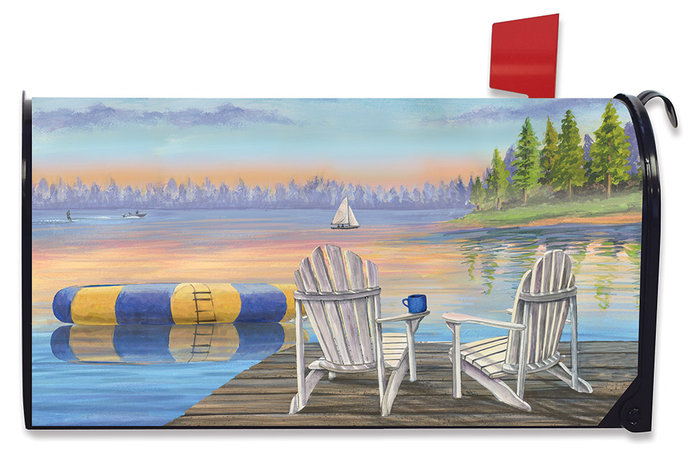 Waterfront Retreat Mailbox Cover