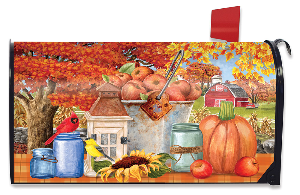 Apple Picking Mailbox Cover