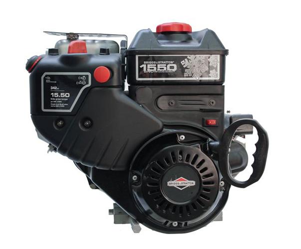 "Briggs-Stratton Engine 1550 Horizontal 3/4"" x 2-5/16"" Shaft  Intek Snow  Muffler  Fuel Tank  Recoil & 110 Volt Elec"