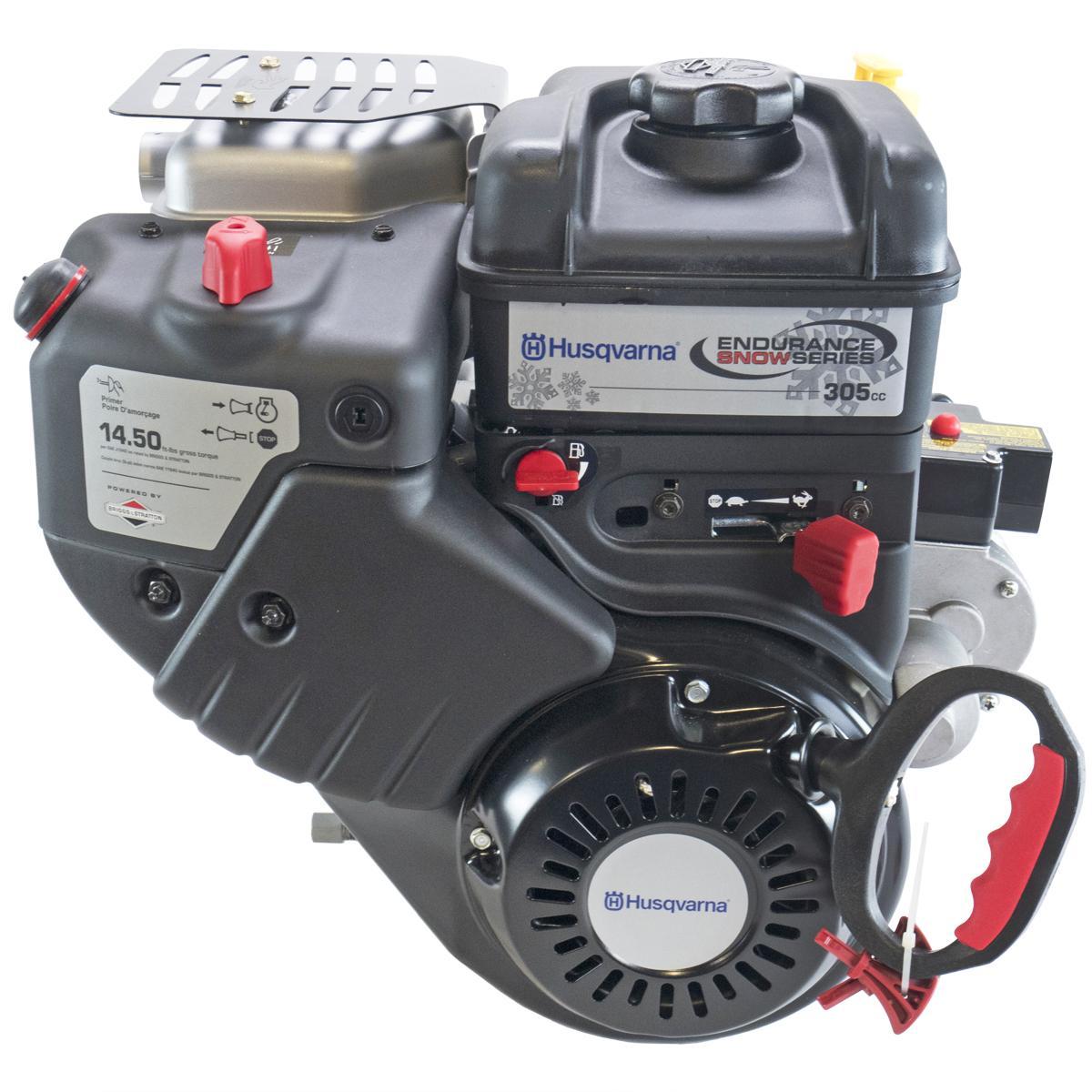 "1450 Series Briggs & Stratton Intek Snow Engine, Horizontal 3/4""x2-5/16"" Shaft, Recoil + 110V Electric Starter, 60 Watt AC Alter"