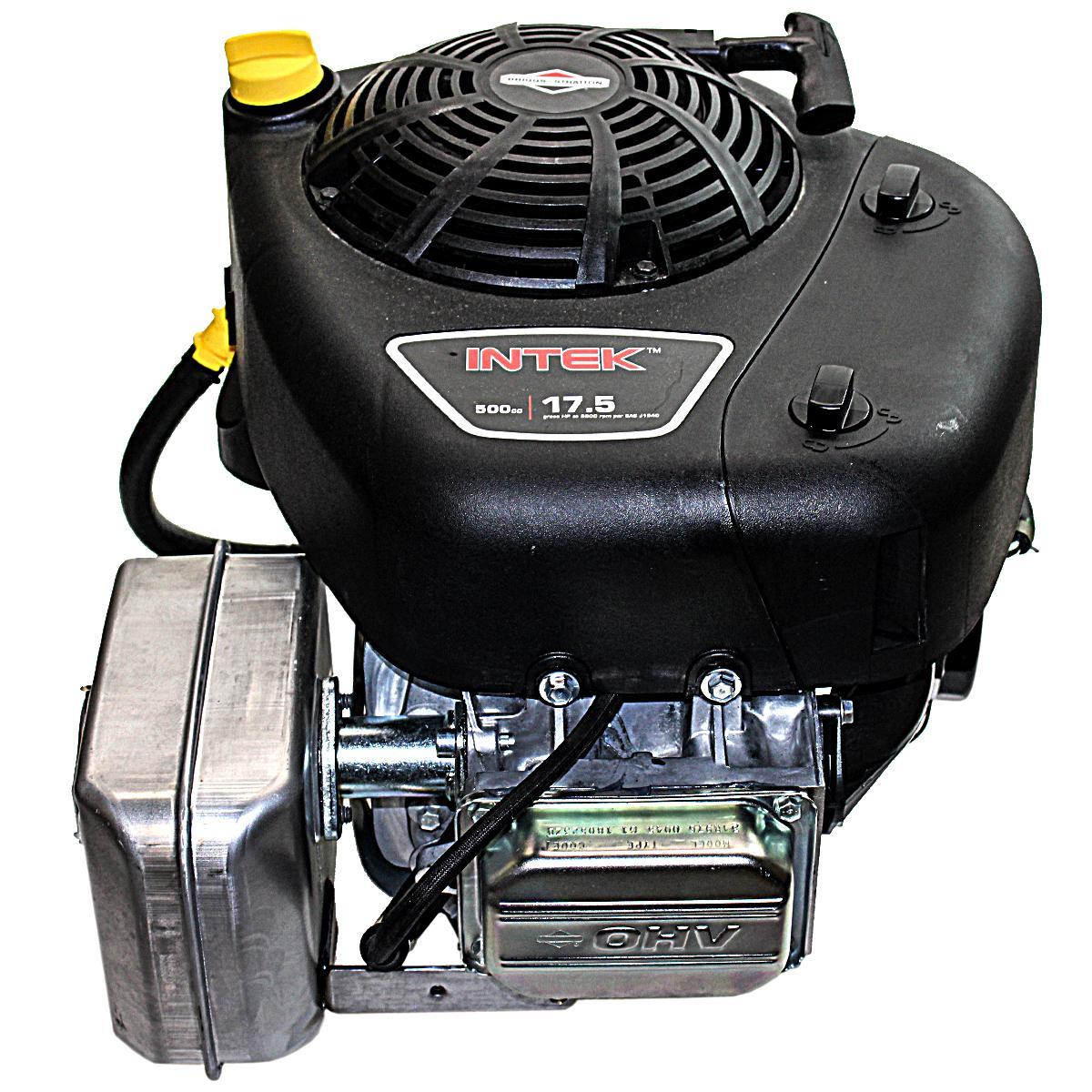 "17.5HP Vertical 1"" x 3 5/32"" Shaft, Intek, OHV, Recoil Start, 9 Amp Alternator, Oil Filter, Muffler, Fuel Pump, Briggs   Stratto"