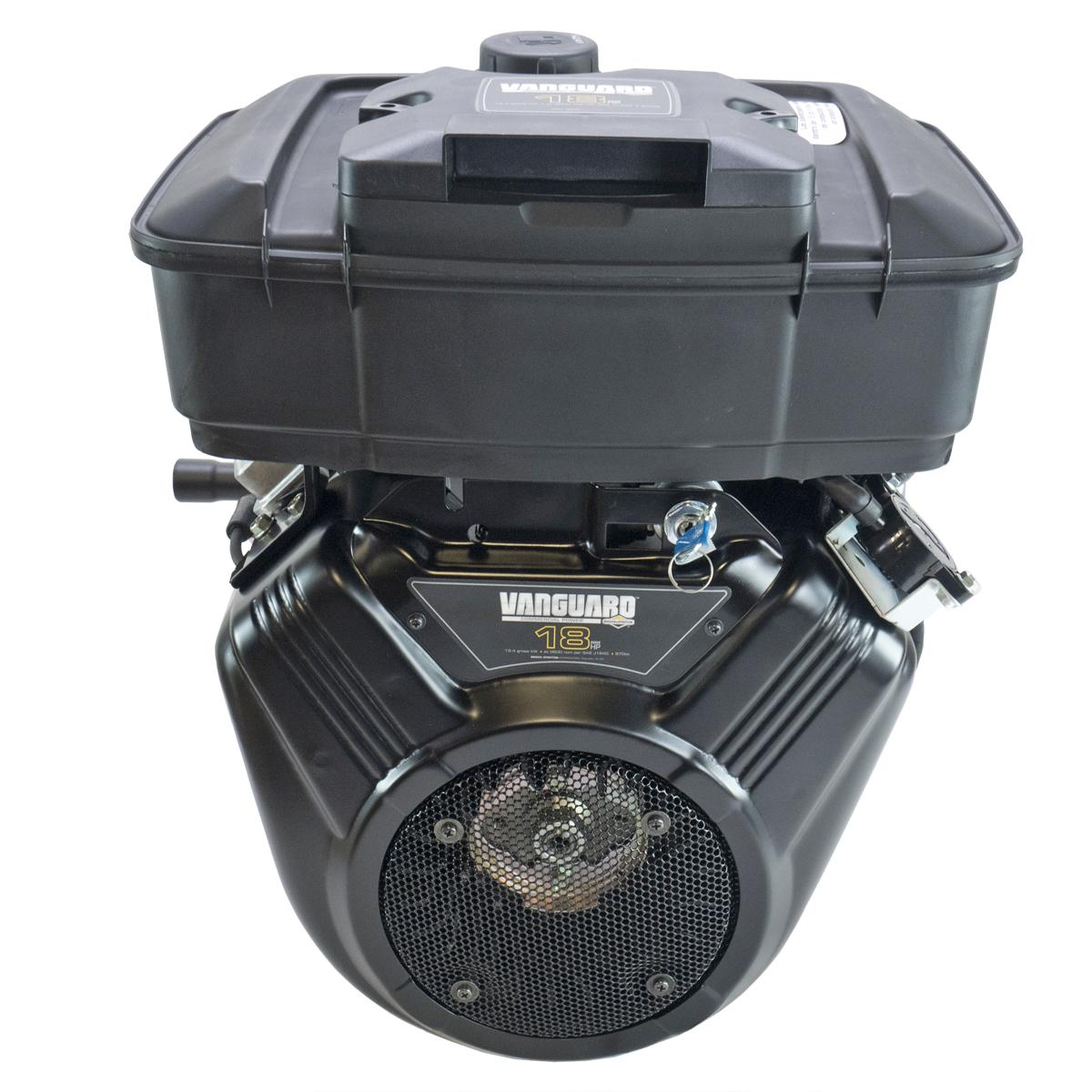 """18hp Horizontal Keyed 1""""x2-29/32"""" Shaft, Electric Start with Switch, Fuel Tank, Oil Filter, Manifold Briggs   Stratton Engine"""