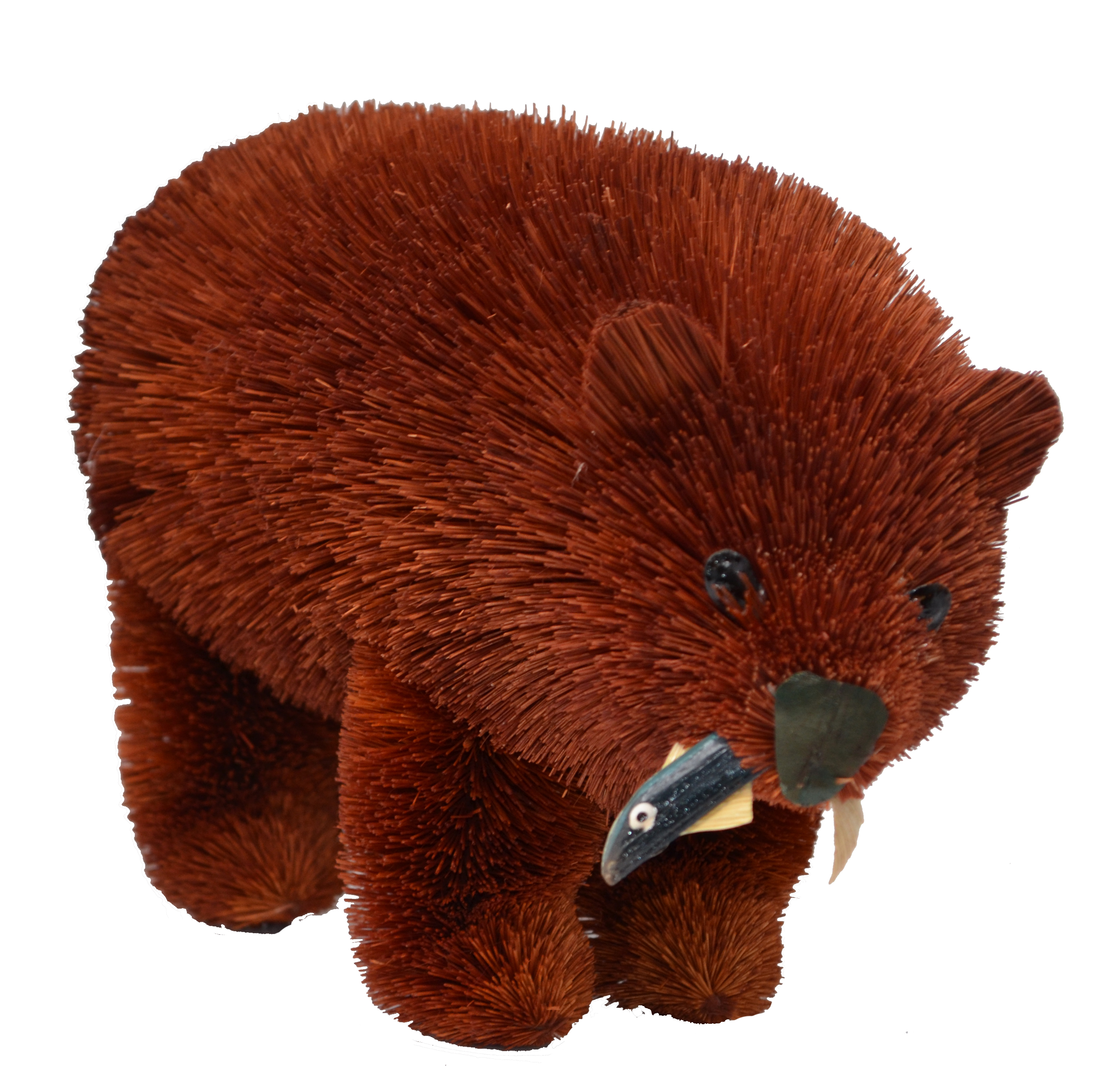 10 inch Brown Bear with Fish