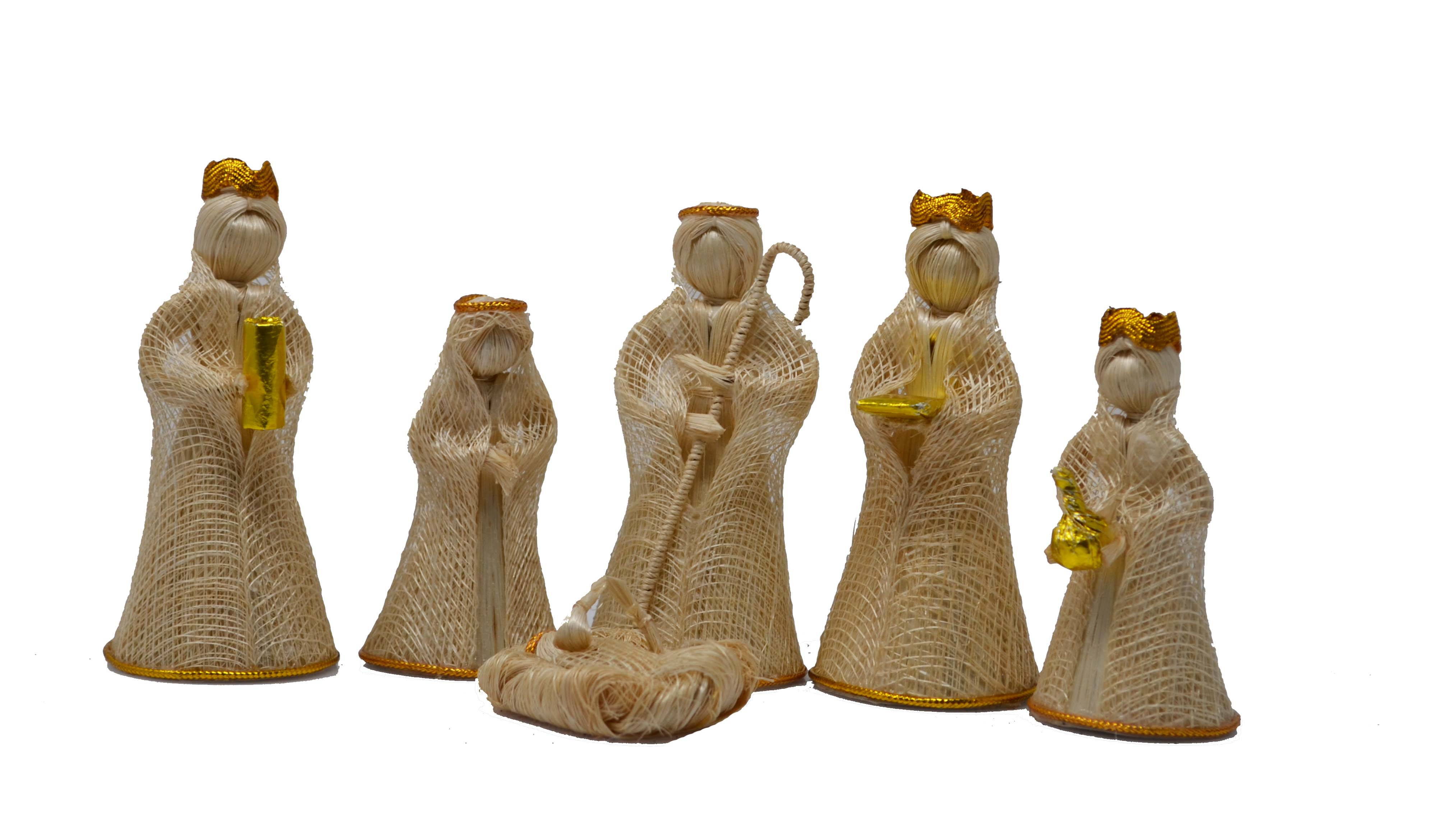 4 inch Nativity Set-Gold Trim