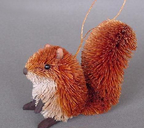 Squirrel Red Ornament