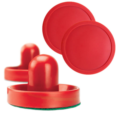 Pair of Air hockey Pucks and Paddles (Full Size)