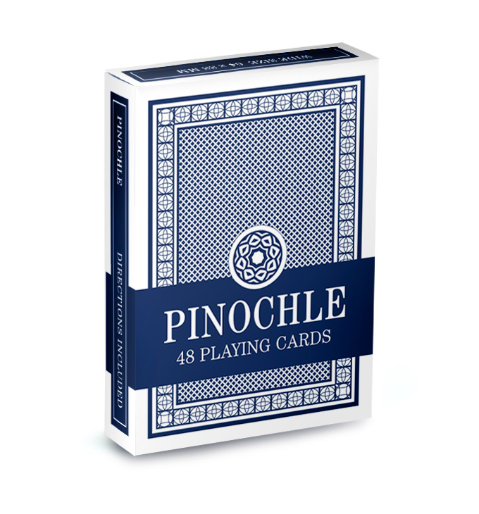 Single Blue Deck Pinochle Playing Cards