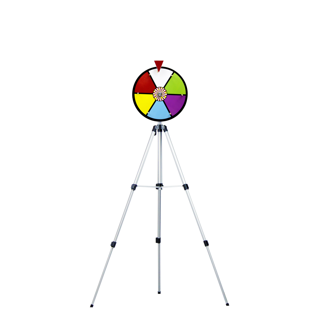 "12"" Color Dry Erase Prize Wheel w/ Floor Stand"