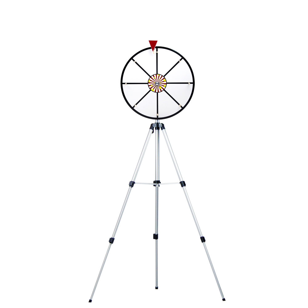 "16"" White Dry Wheel Prize Wheel w/ Floor Stand"