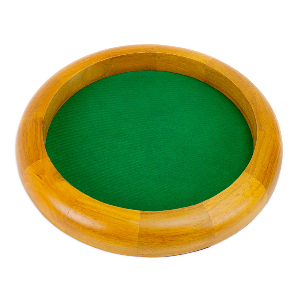 12 in Wooden Circular Dice Tray