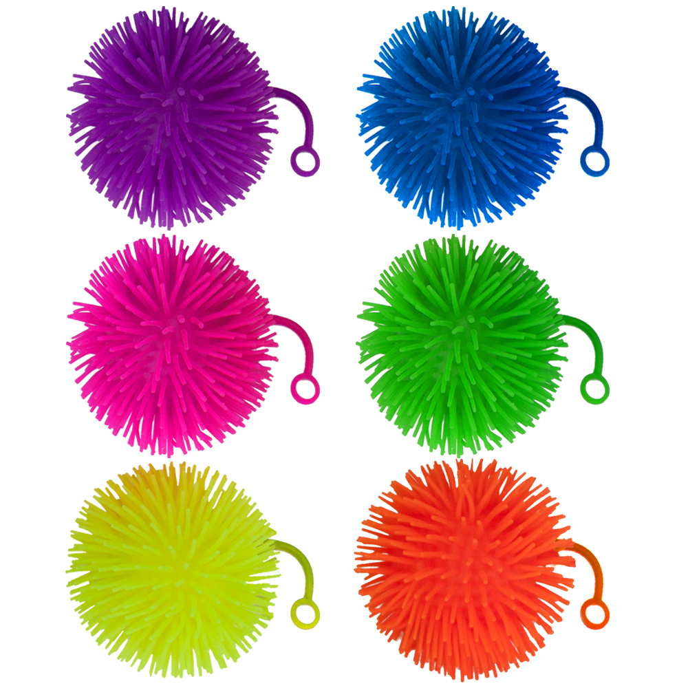"Set of 6 Jumbo 5"" Light Up Puffer Ball Yo-Yos"