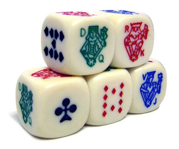 Poker Dice Pack - 5 Dice
