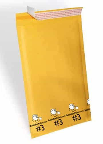 "(100) No. 3 BubbleBoy 8.5"" x 14"" Self-Seal Bubble Mailers"