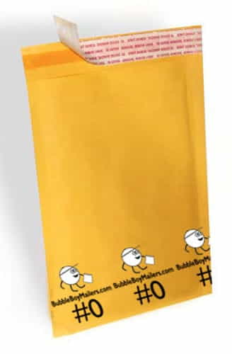 "(250) No. 0 BubbleBoy 6"" x 10"" Self-Sealable Bubble Mailers"