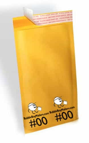 "(250) No. 00 BubbleBoy 5"" x 10"" Self-Sealable Bubble Mailers"