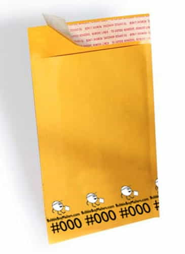 "(500) No. 000 BubbleBoy 4"" x 8"" Self-Sealable Bubble Mailers"
