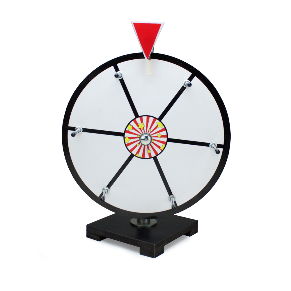 "12"" White Dry Erase Prize Wheel"