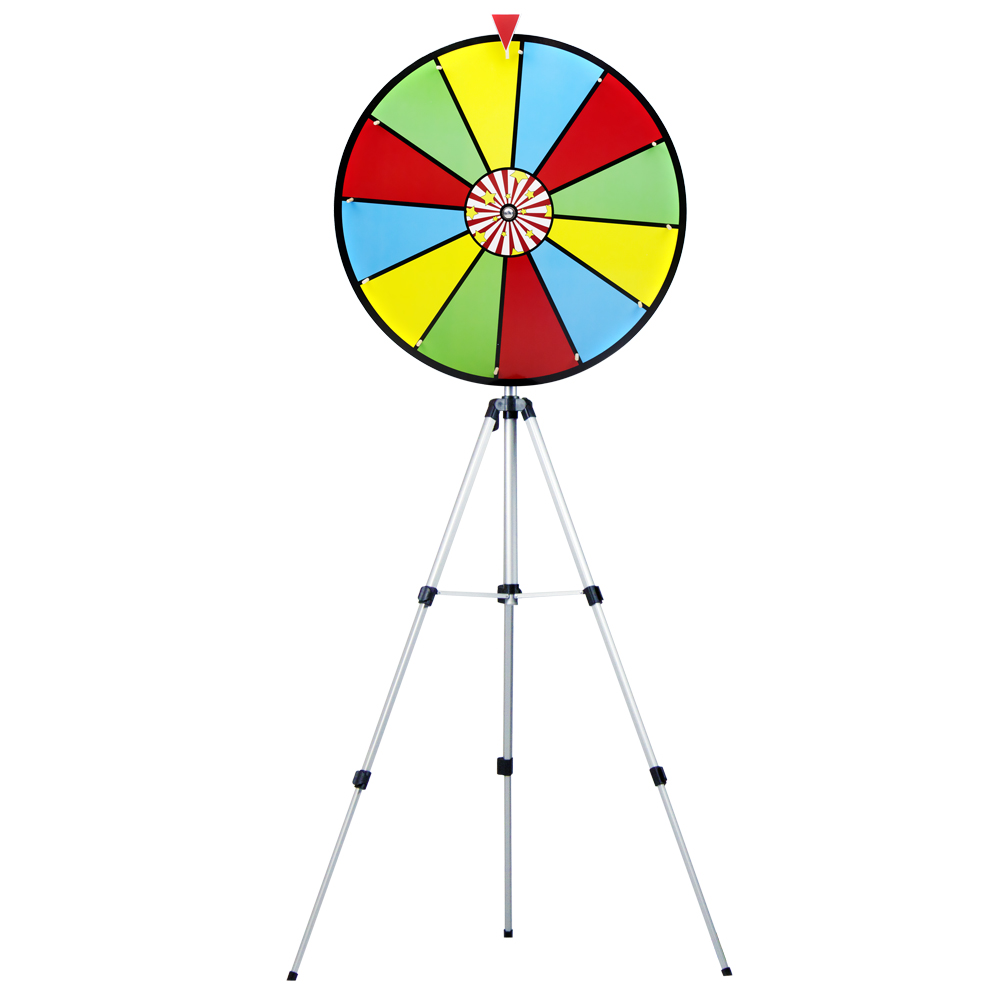 "24"" Color Dry Erase Prize Wheel w/ Floor Stand"
