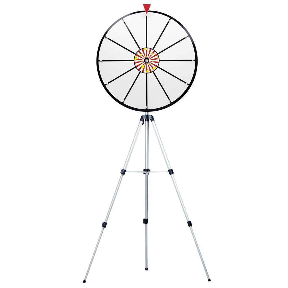 "24"" White Dry Erase Prize Wheel w/ Floor Stand"