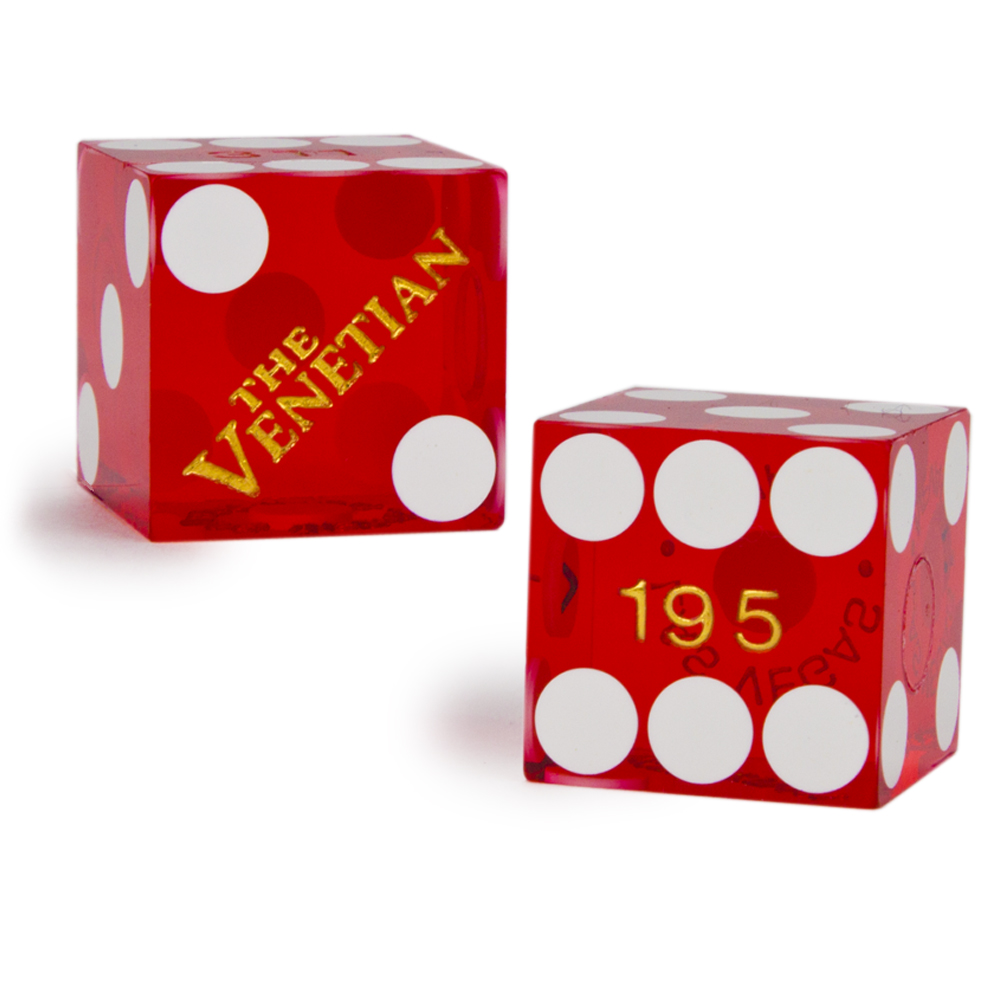 Pair (2) of The Venetian 19 MM Official Casino Dice