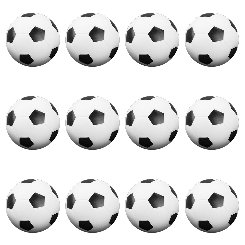 12 Black and White Soccer Style Foosballs