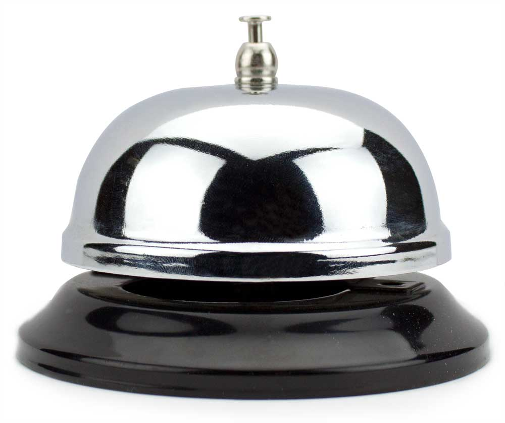 6cm Chrome Service Bell with Black Base