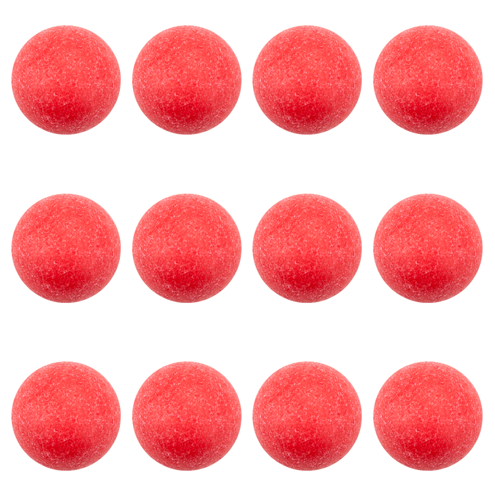 Pack of 12 Red Textured Foosballs