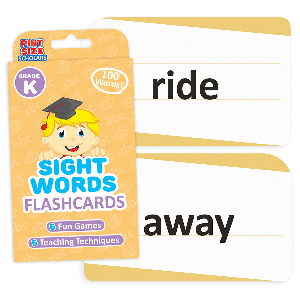 Sight Words Flashcards, Kindergarten