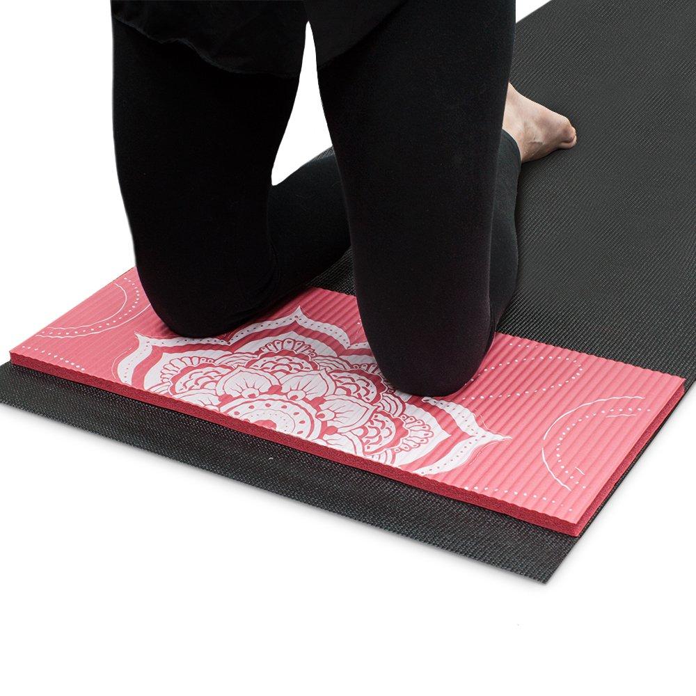 Chakra Art Yoga Knee Pad, Coral