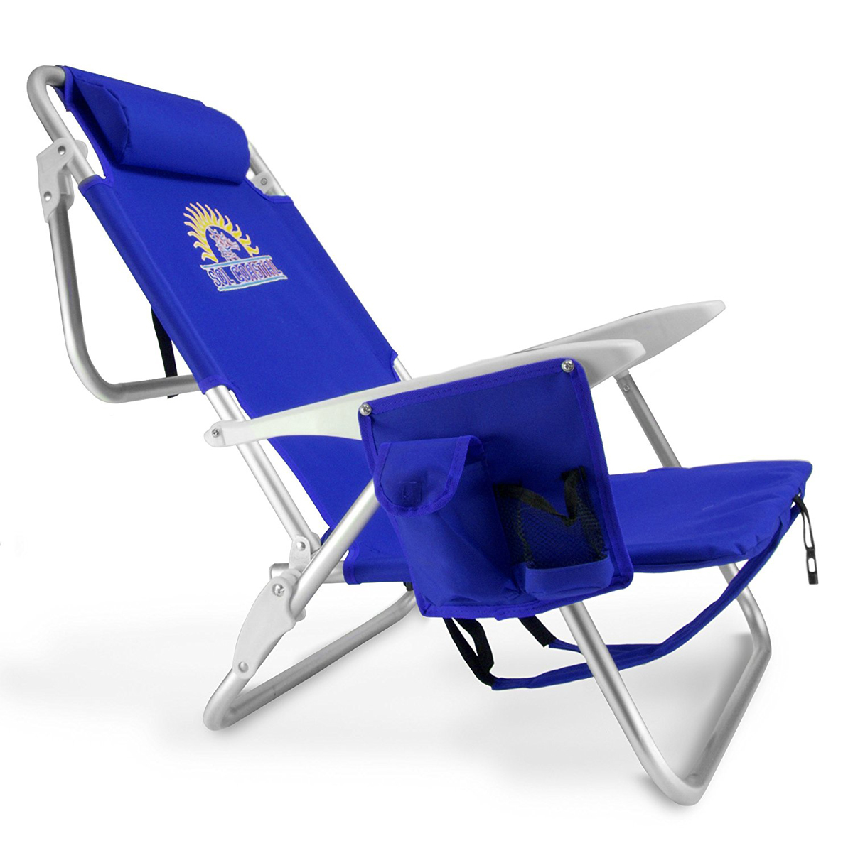 4-Position Folding Beach Chair, Blue