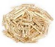 Wooden Spring Clothespins, 100-pack