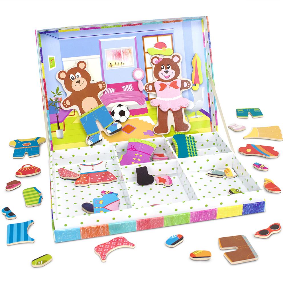 Bear Cubs Magnetic Dress-Up Playset