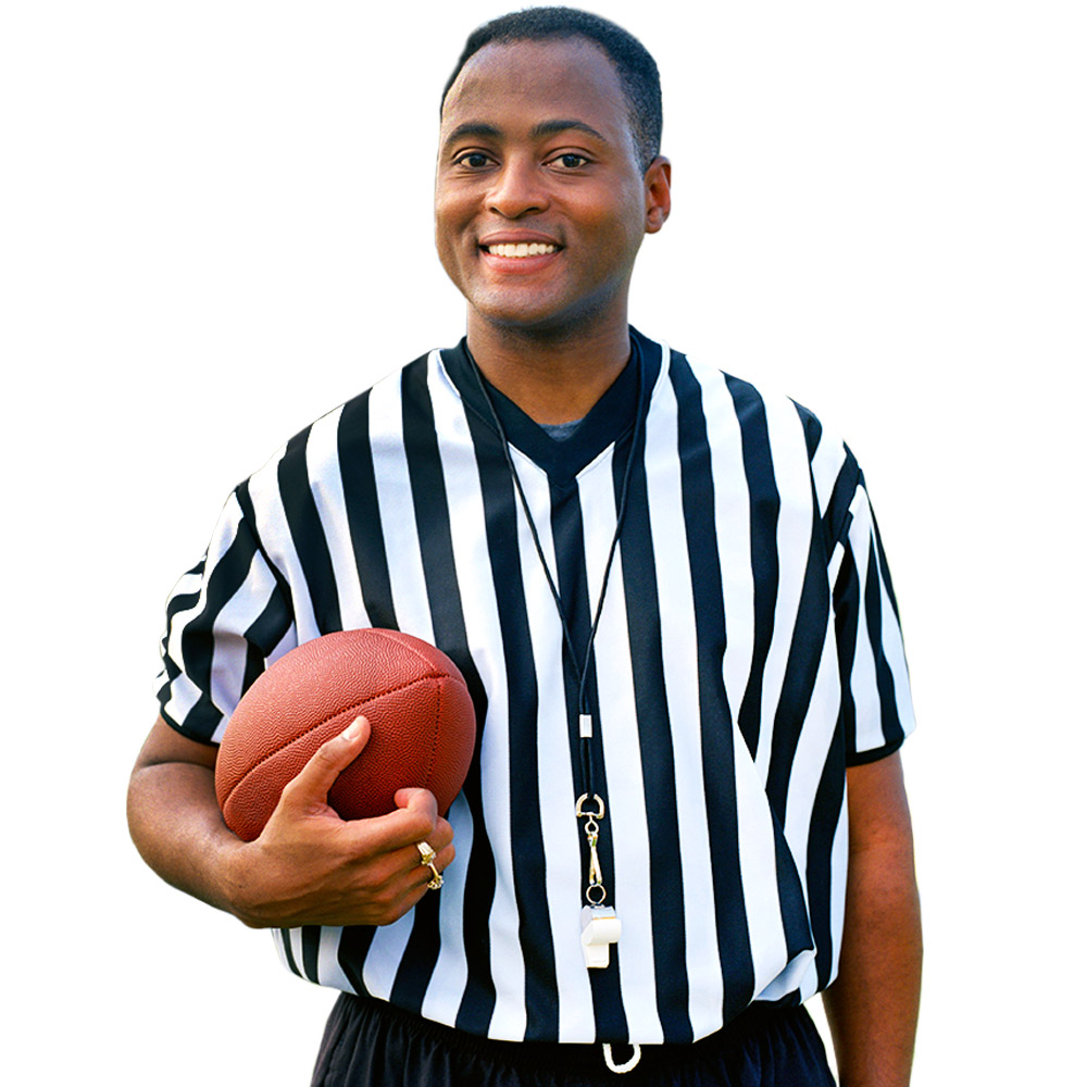 Men's V-neck Referee Jersey, large