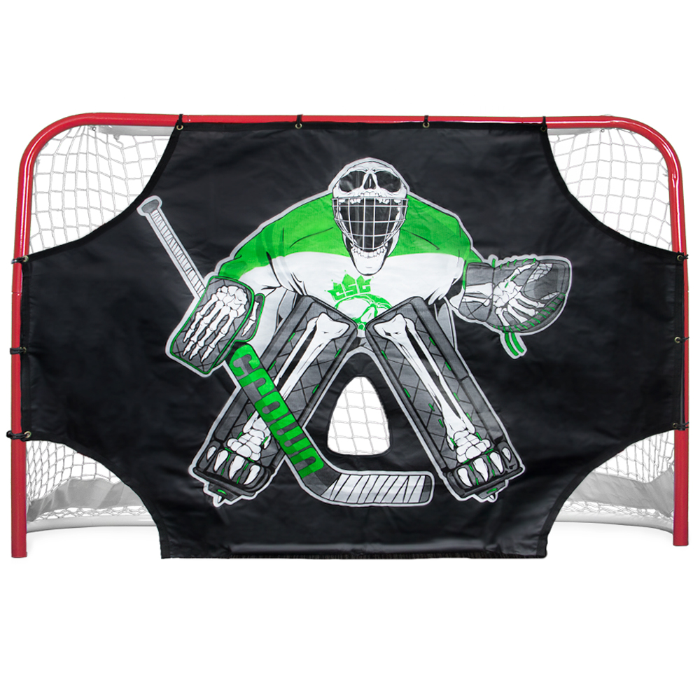 "Green Skull Sniper Street Hockey Shooting Target 72"" x 48"""