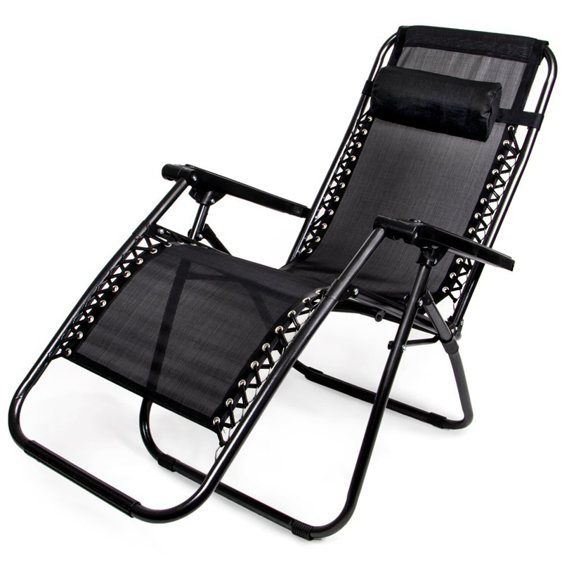 Zero Gravity Folding Lounge Chair, Black