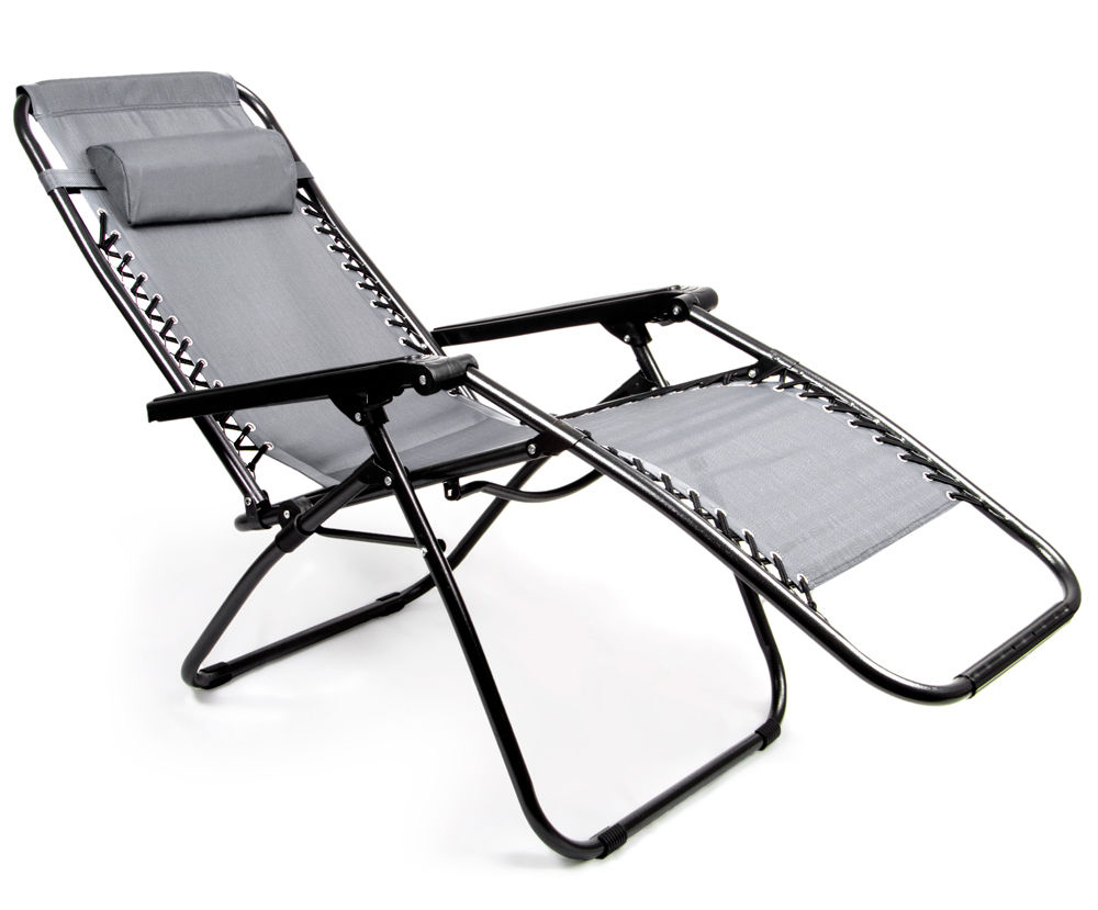 Zero Gravity Folding Lounge Chair, Gray