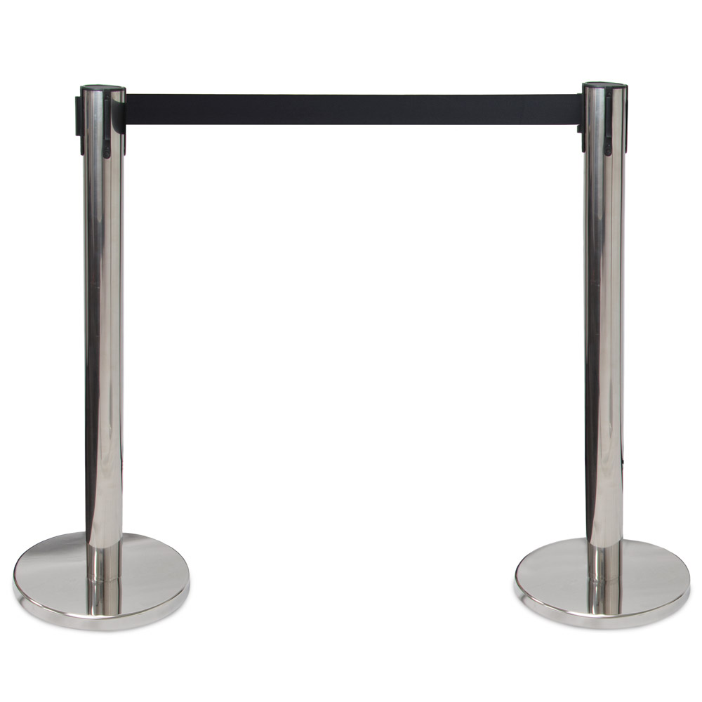 3-foot Stanchion with 6.25-foot Retractable Belt by Pudgy